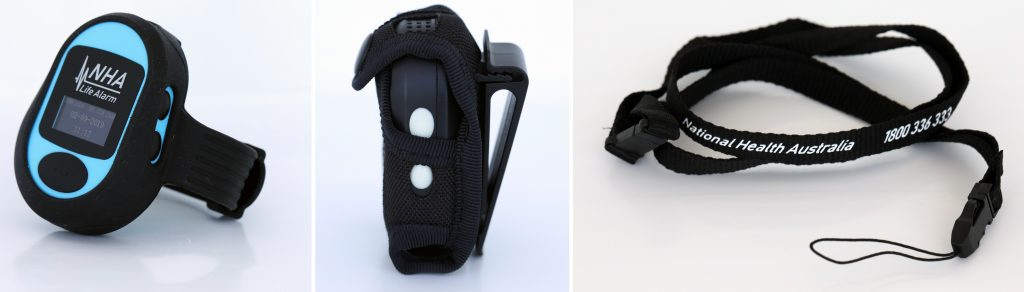 Wristband, Belt Clip and Lanyard Option